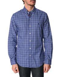 Polo Ralph Lauren Blue Checked Slim Fit Shirt - Lyst