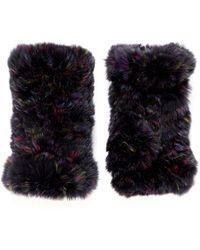Hockley - 'asella' Rex Rabbit Fur Short Fingerless Gloves - Lyst