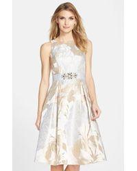 Eliza J | Embellished Jacquard Fit & Flare Dress | Lyst