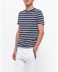 Topman Slim Navy Costa Stripe T-Shirt blue - Lyst