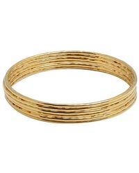 Jardin - Set Of 6 - Gold Hammered Bangles - Lyst