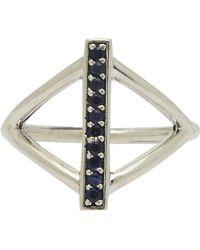 Pamela Love Silver Sapphire Balance Ring - Lyst