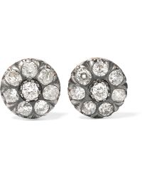 Fred Leighton - 1880s 18-karat Gold Diamond Earrings - Lyst