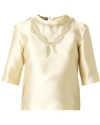 Giambattista Valli Duchess-Satin Top - Lyst