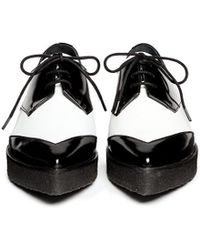 Pierre Hardy Colourblock Leather Laceup Creepers - Lyst