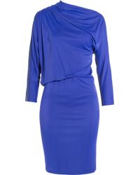 Emanuel Ungaro Draped Jersey Dress - Lyst