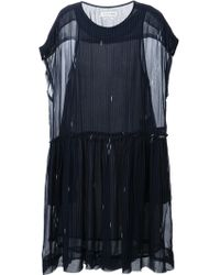 Etoile Isabel Marant Striped Crepe Dress - Lyst