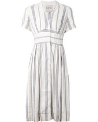 Sea Striped Button Down Dress - Lyst