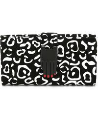 Opening Ceremony - Rubberized Leopard Suede Misha Rectangular Wallet - Black Multi - Lyst
