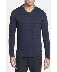 Hugo Boss Hugo 'Molino' Regular Fit V-Neck T-Shirt blue - Lyst