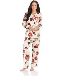 Lauren by Ralph Lauren Metallic Pajama Set - Lyst