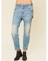 Free People Blue Carpenter Jean - Lyst