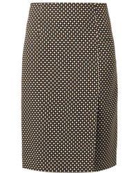 Jonathan Saunders Vida Hazard Checkprint Skirt - Lyst