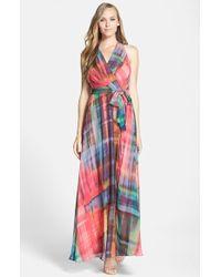 Chetta B Printed Chiffon Maxi Dress - Lyst