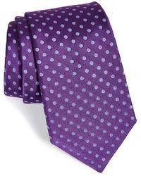 Ike Behar Medallion Woven Silk Tie green - Lyst