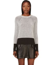 3.1 Phillip Lim Black and White Knit Sweater - Lyst