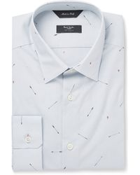 Paul Smith Printed Cotton Shirt - Lyst