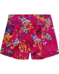 Matthew Williamson - Printed Washed-silk Shorts - Lyst