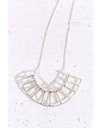 Better Late Than Never Silver Radial Necklace - Lyst
