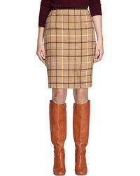 Brooks Brothers Camel Hair Windowpane Pencil Skirt - Lyst