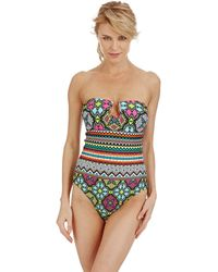 Kenneth Cole Reaction Off The Beaten Path Strapless Swimsuit - Lyst