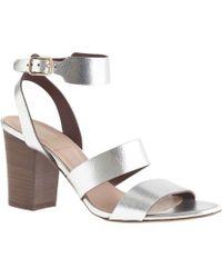 J.Crew Aubrey Mirror Metallic Midheel Sandals - Lyst
