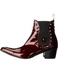 Jeffery West Red Stud Chelsea - Lyst
