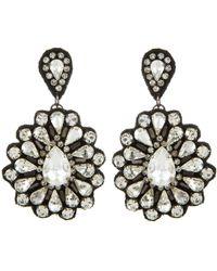Deepa Gurnani Mixed Crystals Flower Earring - Lyst