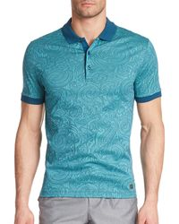 Versace Paisley Jacquard Polo multicolor - Lyst