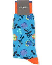 Duchamp Floral Socks - For Men - Lyst