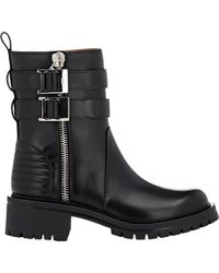 Givenchy Double-Zip Moto Boots - Lyst