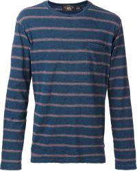 RRL Blue Long-Sleeved T-Shirt - Lyst