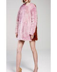 Jo No Fui - Bi-color Kalgan And Shearling Overcoat - Lyst