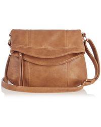Oasis Saskia Foldover X Body Bag - Lyst