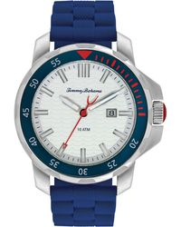 Tommy Bahama - Men'S Big Island Diver Blue Silicone Strap Watch 50Mm 10018384 - Lyst