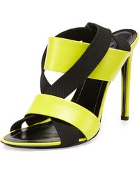 Balenciaga Elastic Crisscross Slingback Sandal - Lyst