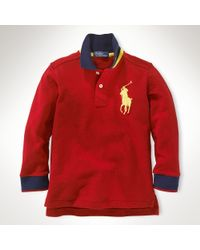 Ralph Lauren Long-Sleeved Big Pony Polo - Lyst