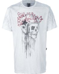 Rude Riders - Skull Print Tshirt - Lyst