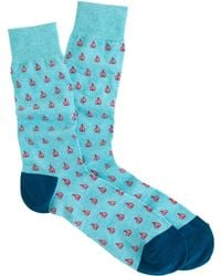 J.Crew Sailboat Noshow Socks - Lyst