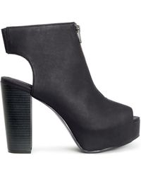 H&M Black Platform Shoes - Lyst