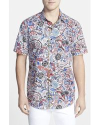 Robert Graham Classic Fit Paisley Print Short Sleeve Sport Shirt multicolor - Lyst