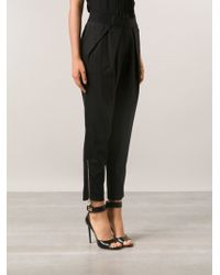Yigal Azrouel Pinstripe Pleated Trousers - Lyst