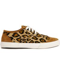 YMC | Lace Up Leopard Print Trainers | Lyst