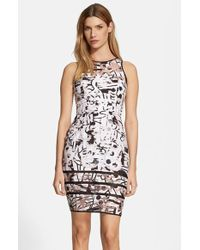 Milly Abstract Print Fil Coupe Sheath Dress - Lyst