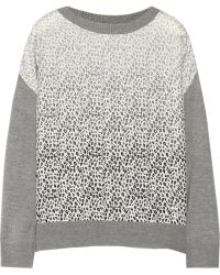 Band of Outsiders - Dégradé-Paneled Silk And Cashmere-Blend Jumper - Lyst