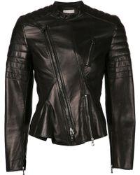 3.1 Phillip Lim Black Biker Jacket - Lyst