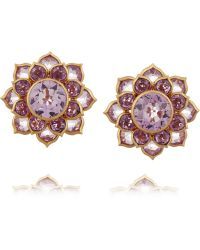 Munnu - 22-Karat Gold Amethyst Earrings - Lyst