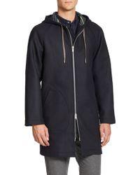 YMC - Coach Wool-blend Coat - Lyst