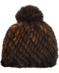 Barneys New York | Mink Knit Beanie | Lyst