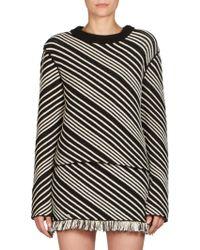 Sonia Rykiel   Terry Diagonal Striped Sweater   Lyst